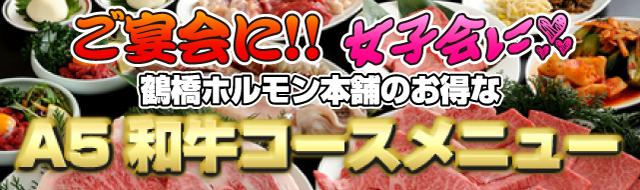 鶴橋で宴会しましょう♪おいしいホルモン・焼肉を宴会/忘年会/女子会で
